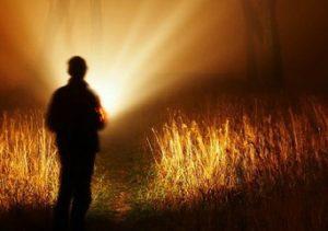 paranormal man with flashlight